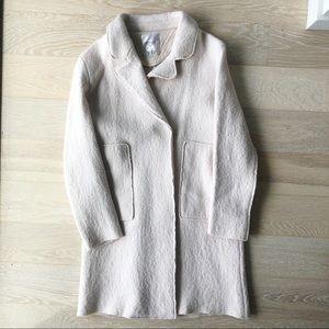 Jackets & Blazers - ZARA blush pink boiled wool coat